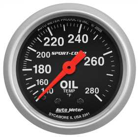 Sport-Comp™ Mechanical Oil Temperature Gauge