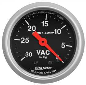 Sport-Comp™ Mechanical Vacuum Gauge