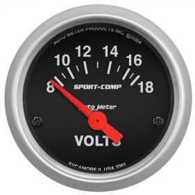 Sport-Comp™ Electric Voltmeter Gauge