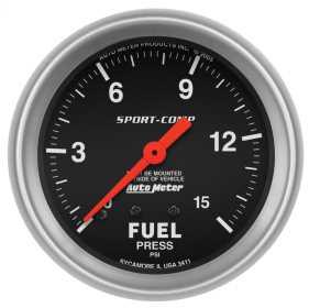 Sport-Comp™ Mechanical Fuel Pressure Gauge 3411