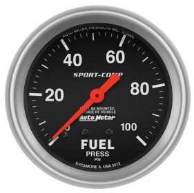 Sport-Comp™ Mechanical Fuel Pressure Gauge 3412