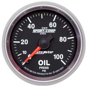 Sport-Comp II™ Mechanical Oil Pressure Gauge