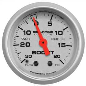 Ultra-Lite® Mechanical Boost/Vacuum Gauge