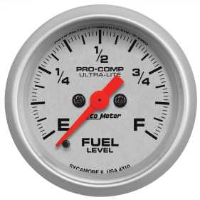 Ultra-Lite® Electric Programmable Fuel Level Gauge