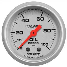Ultra-Lite® Mechanical Oil Pressure Gauge