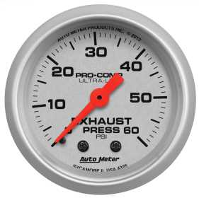 Ultra-Lite® Mechanical Exhaust Pressure Gauge
