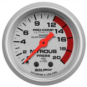Ultra-Lite® Mechanical Nitrous Pressure Gauge
