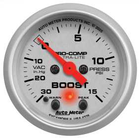 Ultra-Lite® Electric Boost/Vacuum Gauge