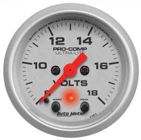 Ultra-Lite® Electric Voltmeter Gauge