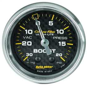 Carbon Fiber™ Mechanical Boost/Vacuum Gauge