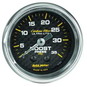 Carbon Fiber™ Mechanical Boost Gauge