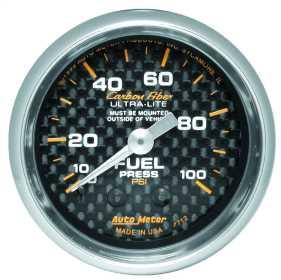 Carbon Fiber™ Mechanical Fuel Pressure Gauge 4712