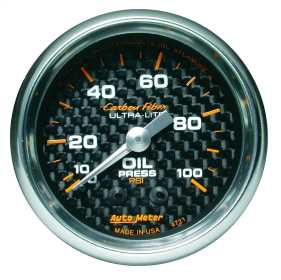 Carbon Fiber™ Mechanical Oil Pressure Gauge