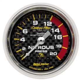 Carbon Fiber™ Mechanical Nitrous Pressure Gauge