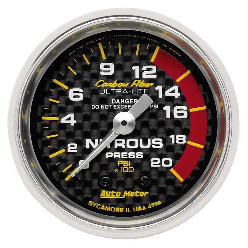 Carbon Fiber™ Mechanical Nitrous Pressure Gauge 4728