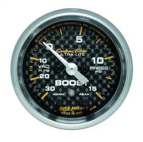 Carbon Fiber™ Electric Boost/Vacuum Gauge