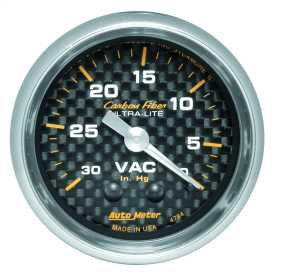 Carbon Fiber™ Mechanical Vacuum Gauge