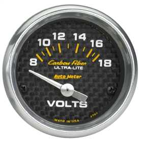 Carbon Fiber™ Electric Voltmeter Gauge