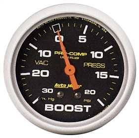 Pro-Comp™ Liquid-Filled Mechanical Vacuum/Boost Gauge