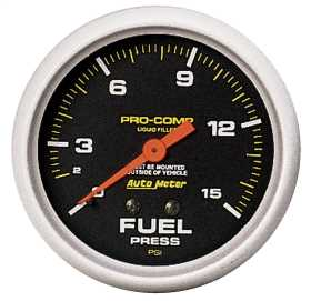 Pro-Comp™ Liquid-Filled Mechanical Fuel Pressure Gauge