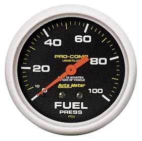 Pro-Comp™ Liquid-Filled Mechanical Fuel Pressure Gauge 5412
