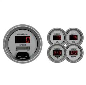 Ultra-Lite® Digital 5 Gauge Set Fuel/Oil/Speedo/Volt/Water