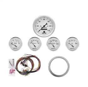 Old Tyme White™ 5 Gauge Set MPH/OilP/Water/Volt/Fuel 7034-OTW
