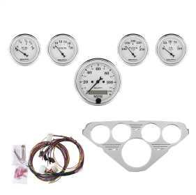 Old Tyme White™ 5 Gauge Set MPH/OilP/Water/Volt/Fuel 7036-OTW