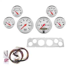 Artic White™ 6 Gauge Set RPM/MPH/OilP/Water/Volt/Fuel