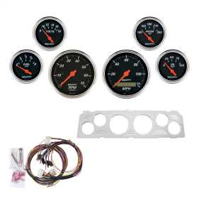 Designer Black™ 6 Gauge Set RPM/MPH/OilP/Water/Volt/Fuel