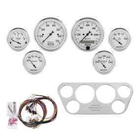 Old Tyme White™ 6 Gauge Set RPM/MPH/Fuel/Oil/Wtr/Bat 7048-OTW