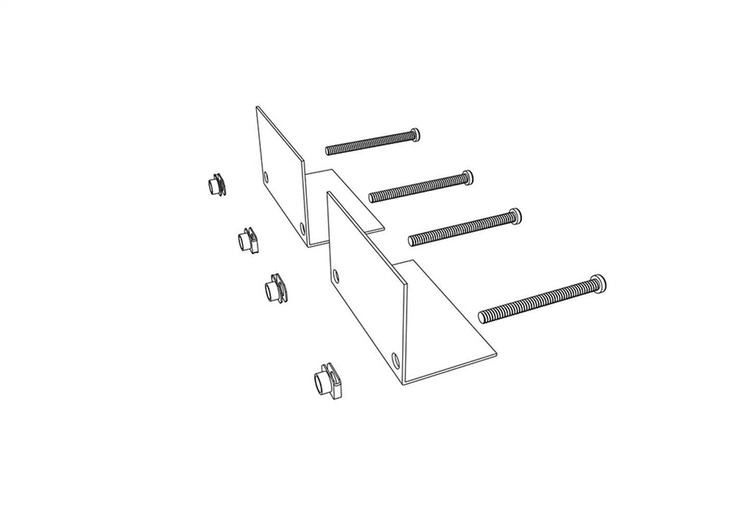 PARTS-276A0001 Bak Industries BAKBox 2 Clamp Brackets