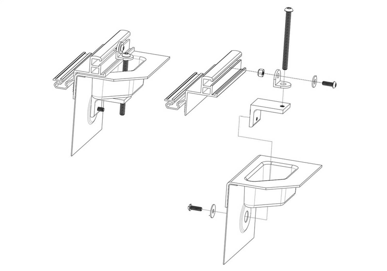 Bak Industries BAKFlip CS Stabilizer Bracket Kit PARTS-316A0003
