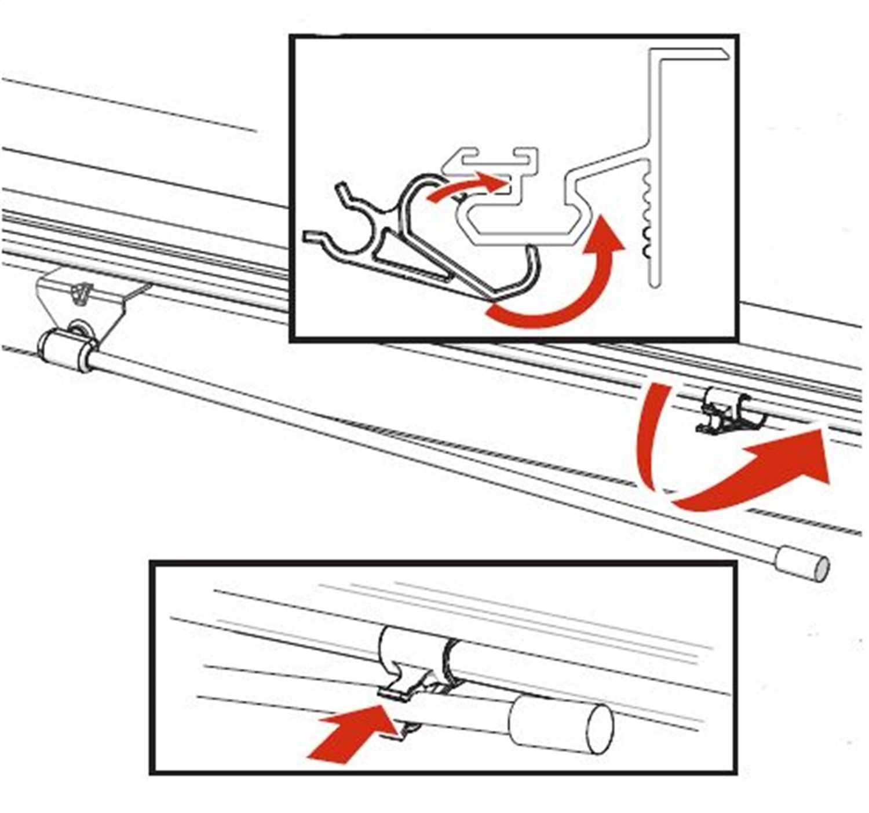 PARTS-351B0024 Bak Industries BAKFlip Prop Rod Clips Set