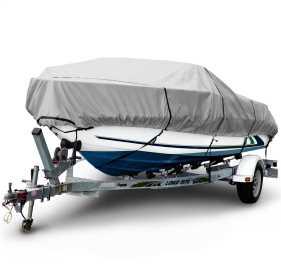 1200 Denier Center Console V-Hull Boat Cover