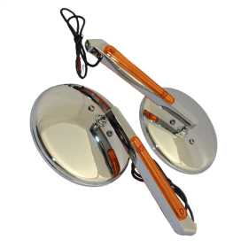 Motorcycle Round LED Lighted Mirror Kit