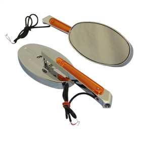 Motorcycle Oval LED Lighted Mirror Kit