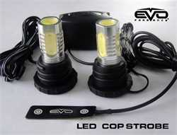CIPA 01907 Motorcycle Round LED Lighted Mirror Kit Chrome 2 Pack