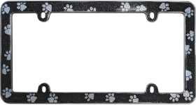 Paws Bling License Plate Frame