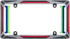 Hypersonic License Plate Frame
