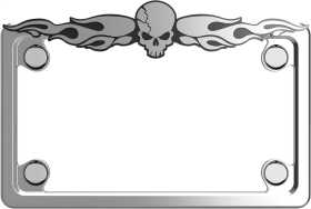 MC Skull License Plate Frame