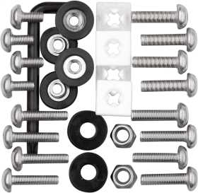 License Plate Frame Locking Fasteners