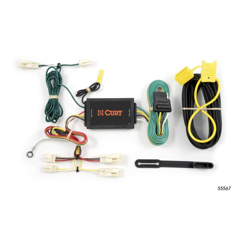 curt custom wiring harness 55567