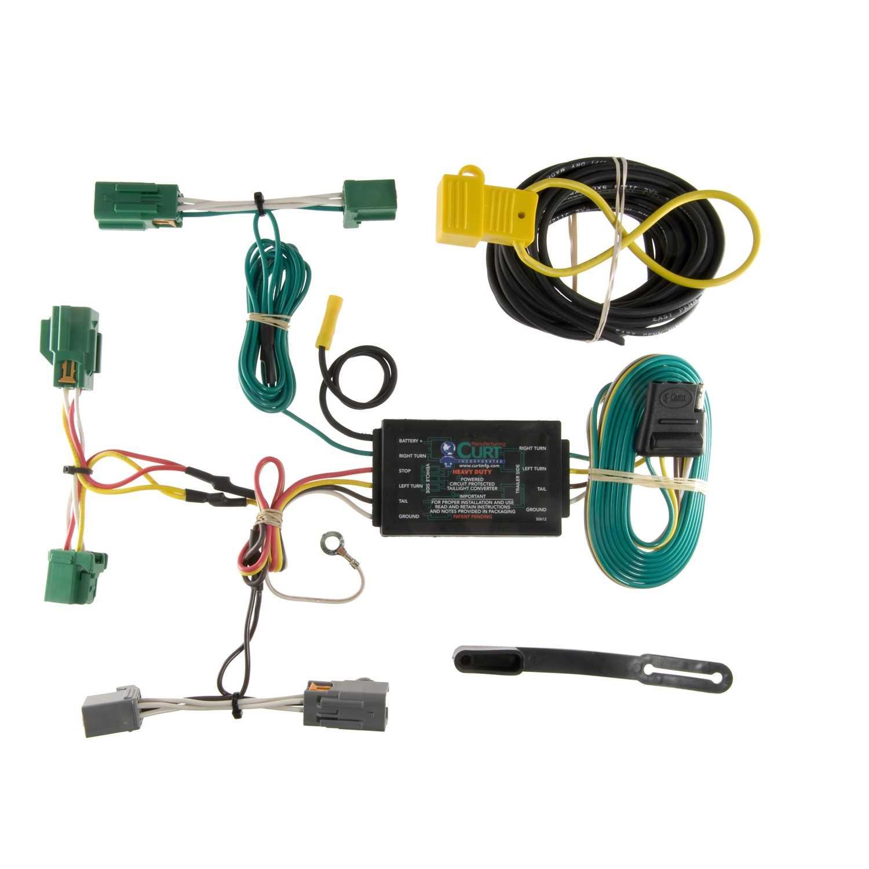 Custom Wiring Harness 4 Wheels Performance Trailer Hitch No Converter Flat Fit Curt 56069