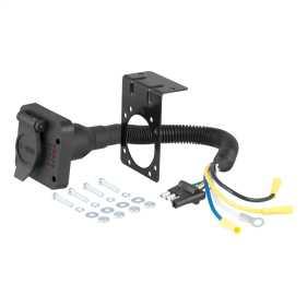 4-Way Flat To 7-Way Round RV Blade Wiring Adapter 57626