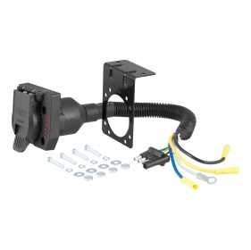 4-Way Flat To 7-Way Round RV Blade Wiring Adapter 57676