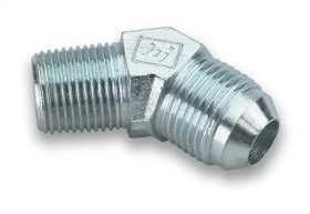 45 Deg. Steel AN to NPT Adapter Elbow