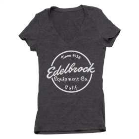 Edelbrock Womens Since 1938 V-Neck Short Sleeve T-Shirt