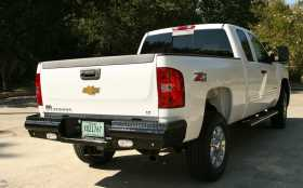 Black Steel Ranch Rear Bumper
