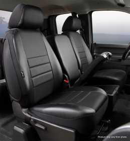 LeatherLite™ Custom Seat Cover SL67-24 BLK/BLK